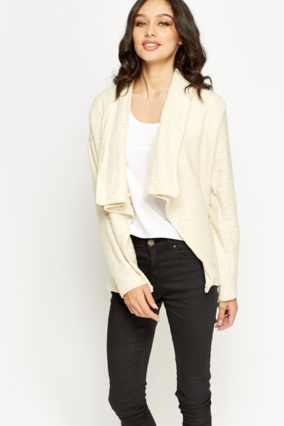Beige Metallic Cardigan