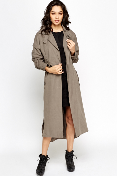Grey Long Trench Coat - Just £5