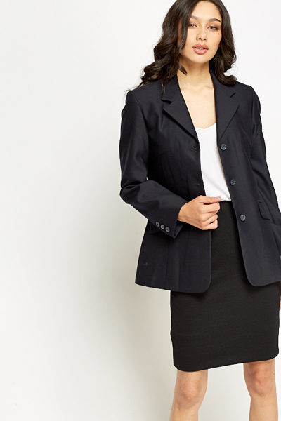 Navy Fitted Blazer