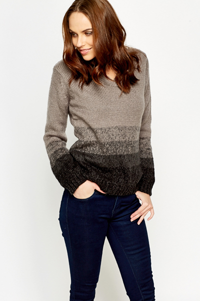 Ombre Middle Brown Jumper