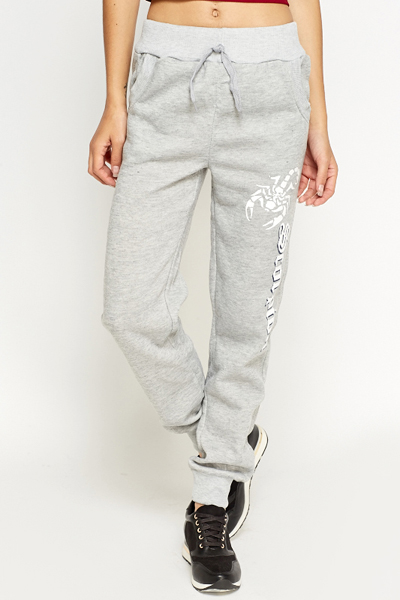 Printed Side Fleece Joggers