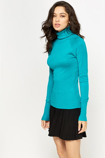 Slim Fit Roll Neck Jumper