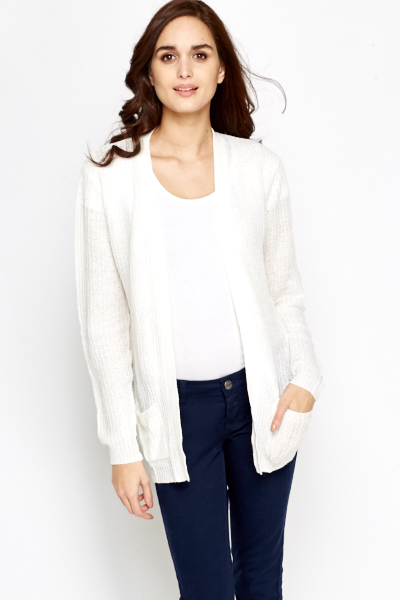 Loose Open Front Cardigan