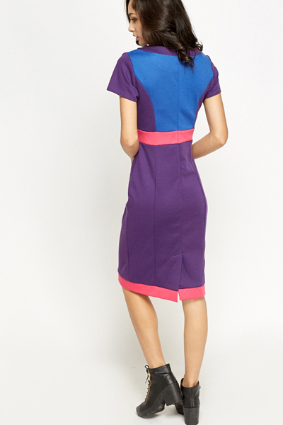 Colour Block Pencil Dress