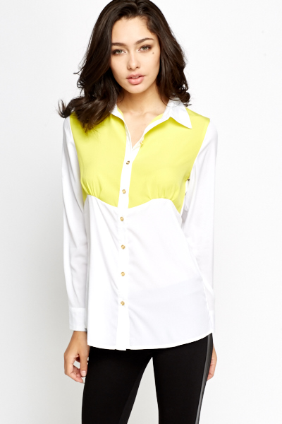 Contrast Colour Panel Shirt