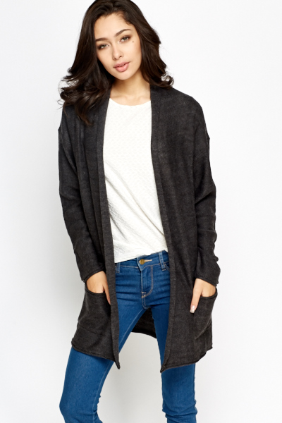 Open Knit Casual Cardigan
