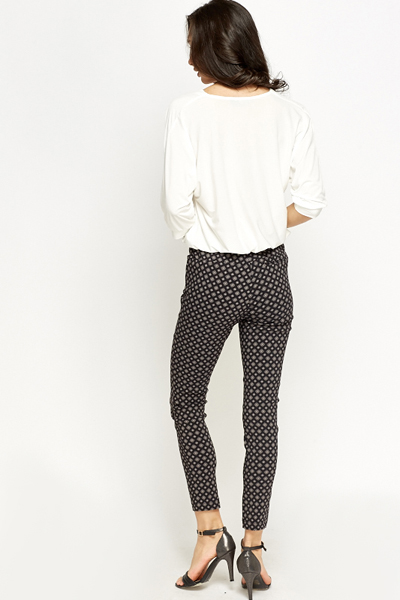 Printed Slim Leg Trousers