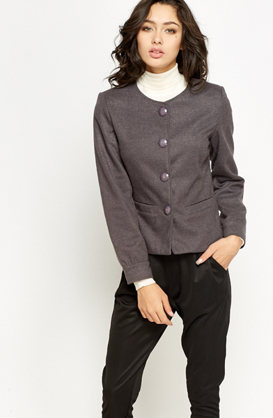 Round Neck Formal Jacket