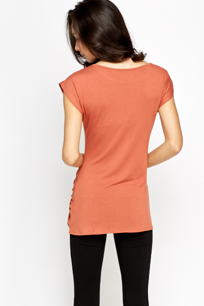 Rust Knot Side Top