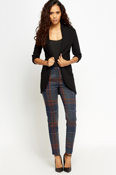 Tartan Tapered Trousers