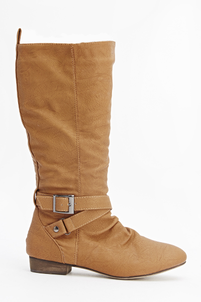 Camel Knee High Boots