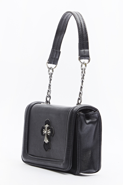 Cross Embellished Bag