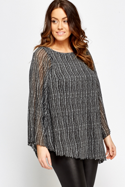 Asymmetric Bell Sleeve Blouse