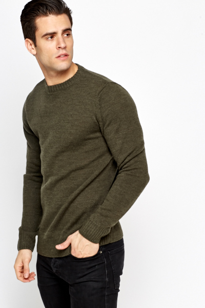 Casual Knit Men Jumper