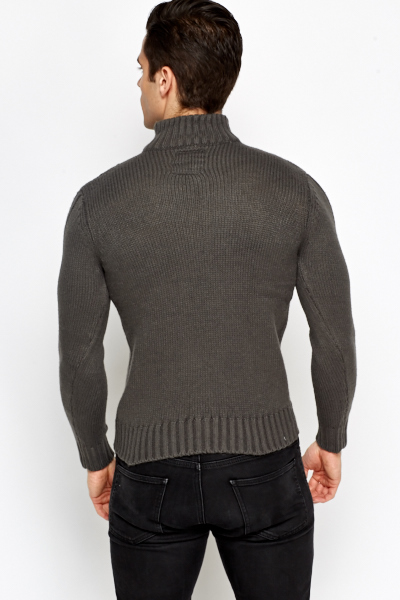 Charcoal Cable Knit Jumper