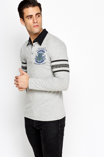 Grey Rugby Top