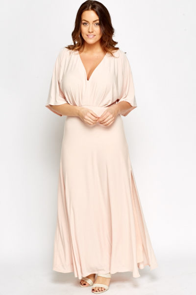 Light Pink Plunge Dress