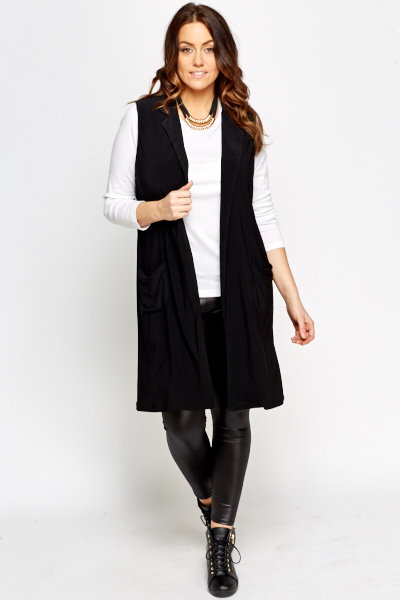 Sleeveless Black Cardigan - Just £5
