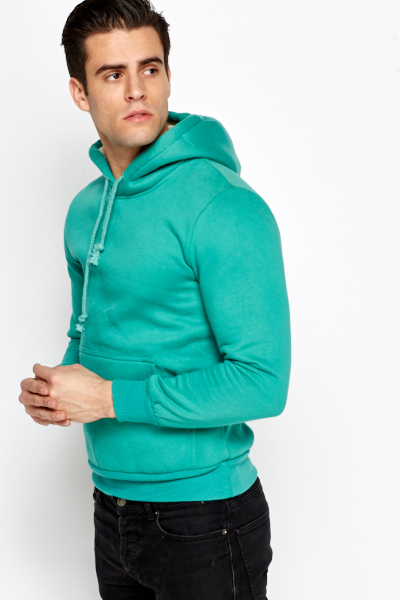 Slim Fit Fleece Hoodie