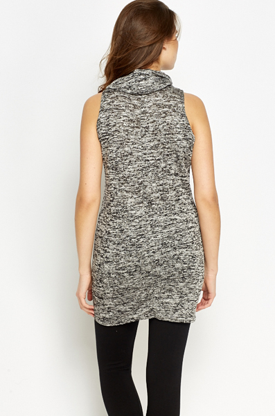 Cowl Neck Speckled Dress