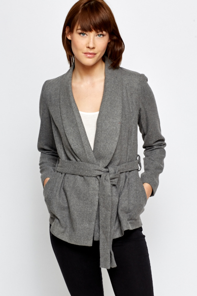 Grey Wrap Jacket