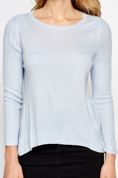 Soft Ribbed Panel Jumper