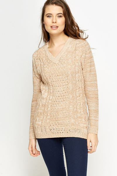 V-Neck Loose Knit Jumper