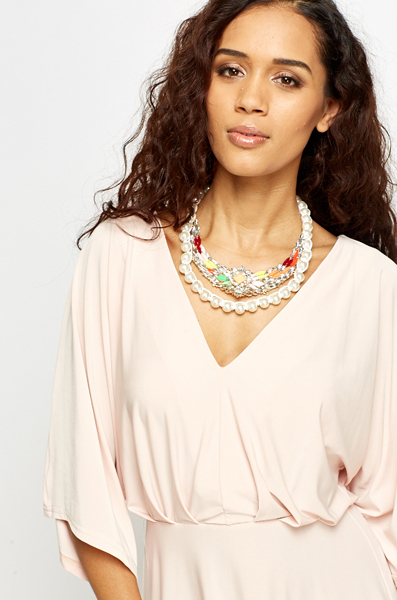 Pearl Trim Encrusted Necklace