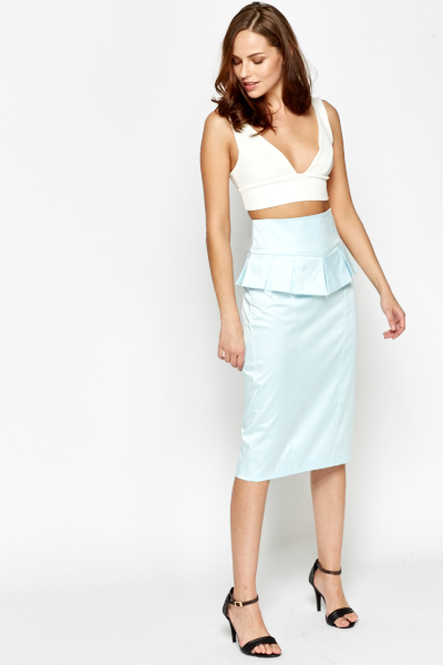 Pleated Peplum Skirt