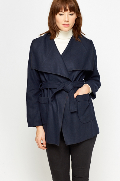 Pocket Front Wrap Jacket