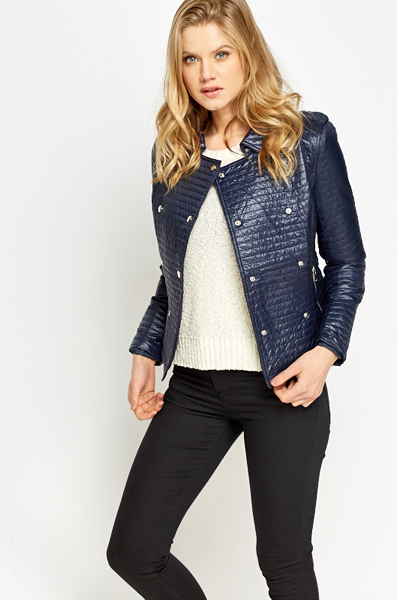 Quilted Double Breasted Jacket