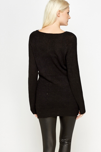 Black Longline Jumper