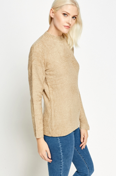 Camel High Neck Soft Jumper