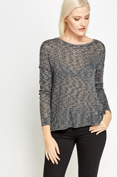 Lace Trim Wrap Back Knit Top