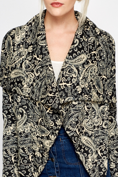 Mono Paisley Waterfall Jacket