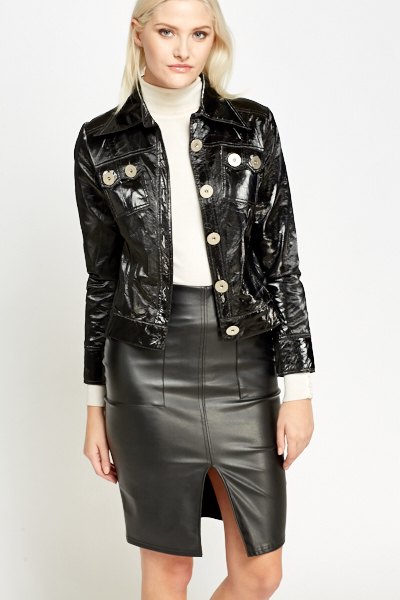 PVC Large Button Jacket
