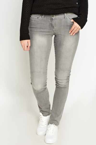 Skinny Washed Grey Jeans