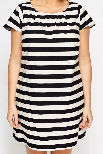 Striped Cap Sleeve Dress