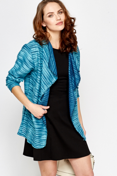 Aqua Striped Cardigan