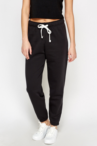 Fleece Black Joggers