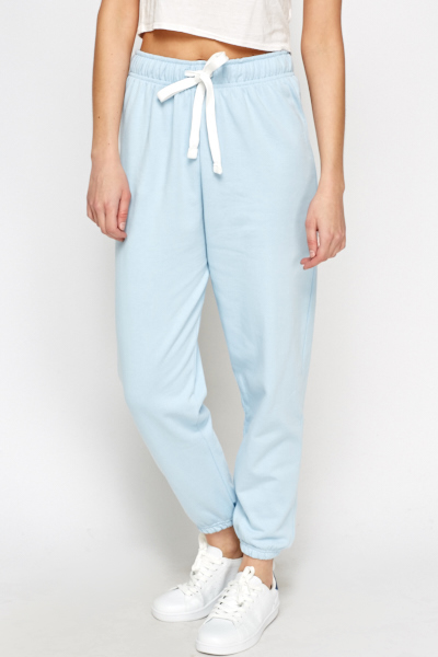 Light Blue Fleeced Joggers