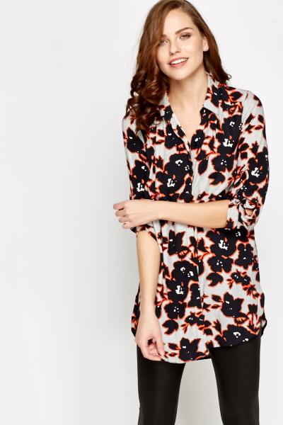 Off White Multi Floral Blouse