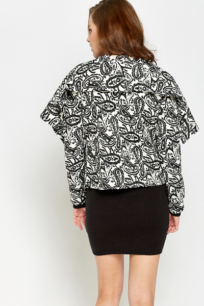 Paisley Waterfall Quilted Jacket