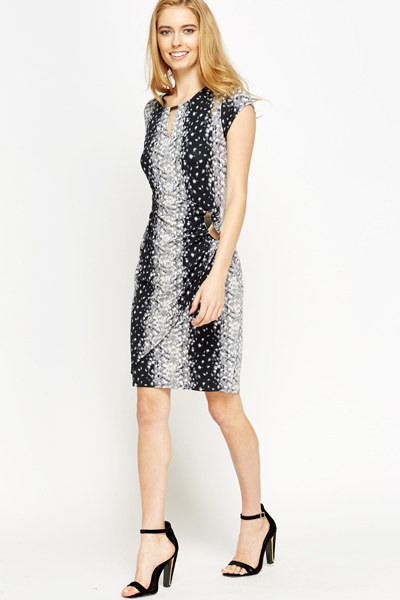 Speckled Overlay Dress