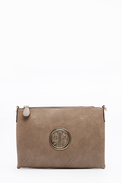 Embellished Front Textured Clutch