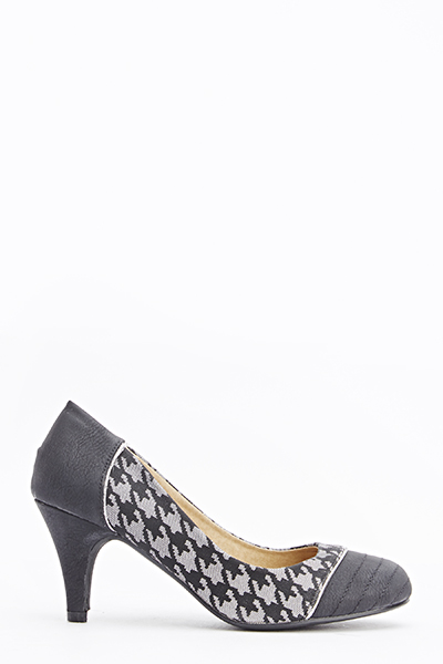 Houndstooth Insert Court Shoes
