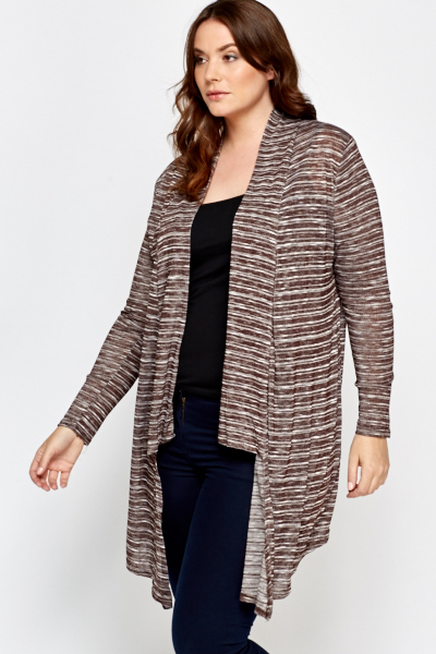 Brown Asymmetric Cardigan
