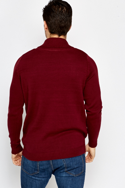 Burgundy Knit Jumper
