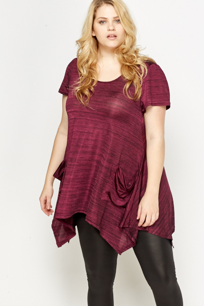 Fuchsia Speckled Tunic