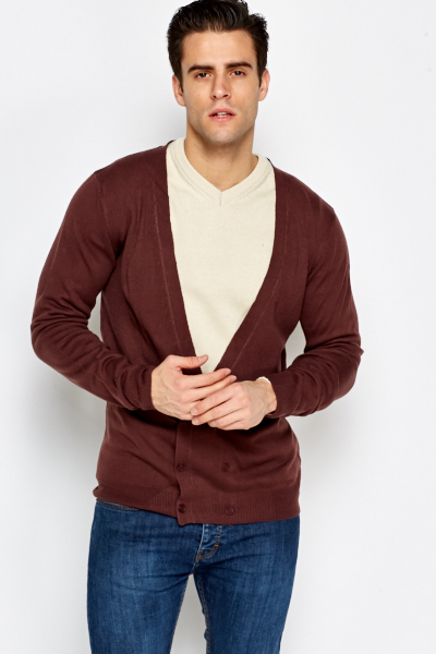 Grape Basic Cardigan